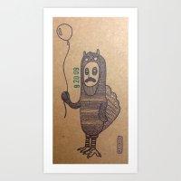 grumpy Art Prints featuring grumpy by MRjay