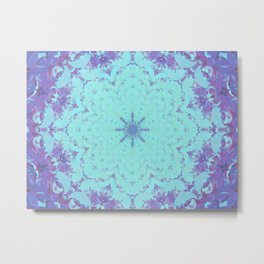 Plasma Flower Metal Print