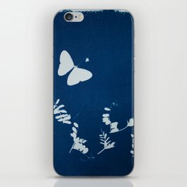Cyano-butterfly iPhone Skin