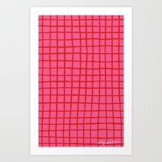 Warm Grid Art Print