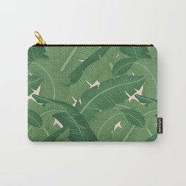 Banana Leaves - Bg Pink Blush Carry-All Pouch