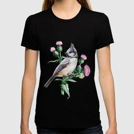 Botanical Tit Bird T-shirt
