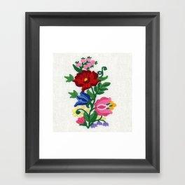 Kalocsa Motif Framed Art Print