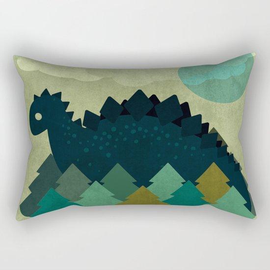 BLUE DINO Rectangular Pillow