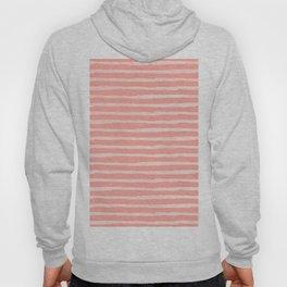 Rose Pink Stripes Pattern Hoody