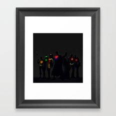Super Hero Framed Art Print