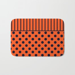 Orange, combo pattern Bath Mat
