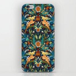 Victorian damask midnight iPhone Skin
