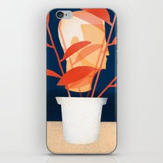 Modern Man with House Plant iPhone & iPod Skin