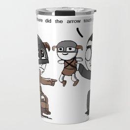Skyrim Meme Where did the arrow touch you? Travel Mug
