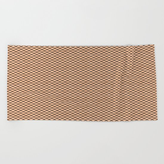 Fishnets and Skin Texture Beach Towel