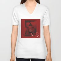 moscow V-neck T-shirts featuring Moscow by Nerve