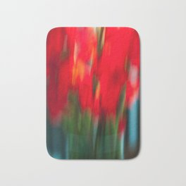 Red Gladiola Bath Mat