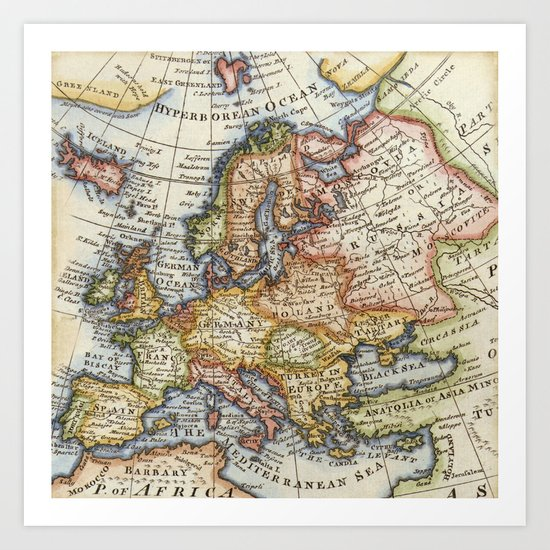 Vintage Maps Art Print