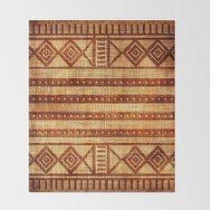 Embossed African Pattern Throw Blanket