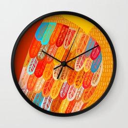 Terracotta Owl Wall Clock