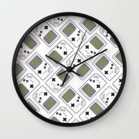 gameboy Wall Clocks featuring gameboy by Λdd1x7