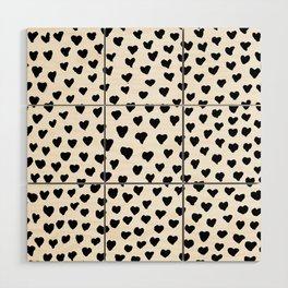 Black Heart Wood Wall Art
