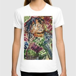 colorful hiphop,poster,lil,rap,artist,music,lyrics,colourful,poster,cool,dope,print,uzi T-shirt