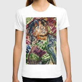 colorful hiphop,poster,lil,rap,artist,music,lyrics,colourful,poster,cool,dope,print,uzi T-shirt