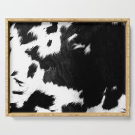 Rustic Cowhide Serving Tray