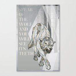 Speak of the Wolf Canvas Print