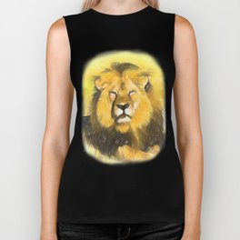 Magnificent Lion Biker Tank