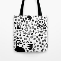 shit Tote Bags featuring Shit by VineDesign