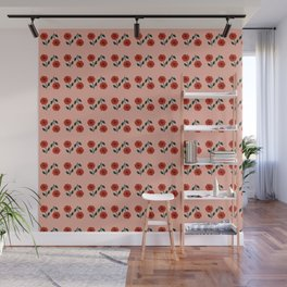 flame scarlet flowers abstract Wall Mural