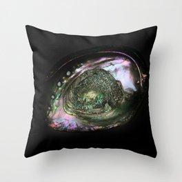 Iridescent Shell Throw Pillow