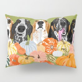 Coonhounds and Gourd Pillow Sham