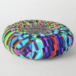 Pot leaves and pixel color drop Floor Pillow