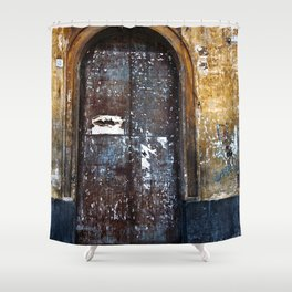 Old Sicilian door of Catania Shower Curtain