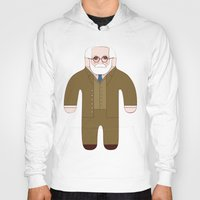 freud Hoodies featuring Sigmund Freud by Late Greats by Chen Reichert