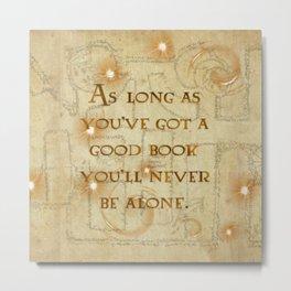 A Good Book Metal Print