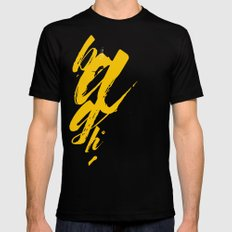 Bagh (बाघ) Tiger  Mens Fitted Tee Black MEDIUM