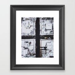 Snowy Intersection Framed Art Print