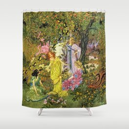 In the Magical Garden of Paradise by Dugald Stewart Walker Shower Curtain