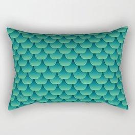 Green Dragon Scales Rectangular Pillow