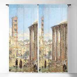 12,000pixel-500dpi - Franz Alt - Room, Forum Boarium - Digital Remastered Edition Blackout Curtain