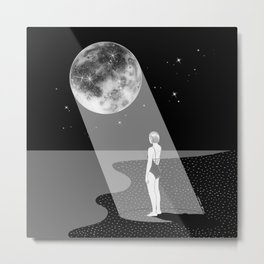 The moon knows me Metal Print