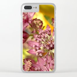 Purple Burst of Flowers 103 Clear iPhone Case