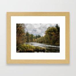 Fall on the McKenzie River Framed Art Print