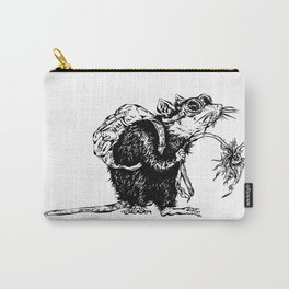 Rat with Flower #3, travel rat Carry-All Pouch