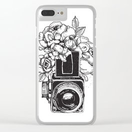 Has n Roses Clear iPhone Case