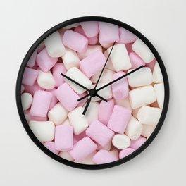 Mini marshmallow Wall Clock
