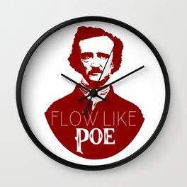 Flow like Poe Wall Clock
