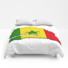 Senegal Map with Senegalese Flag Comforters
