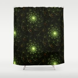 Kaos Entwined Flame Fractal Shower Curtain