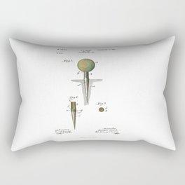 Golf Tee Patent - 1899 Rectangular Pillow